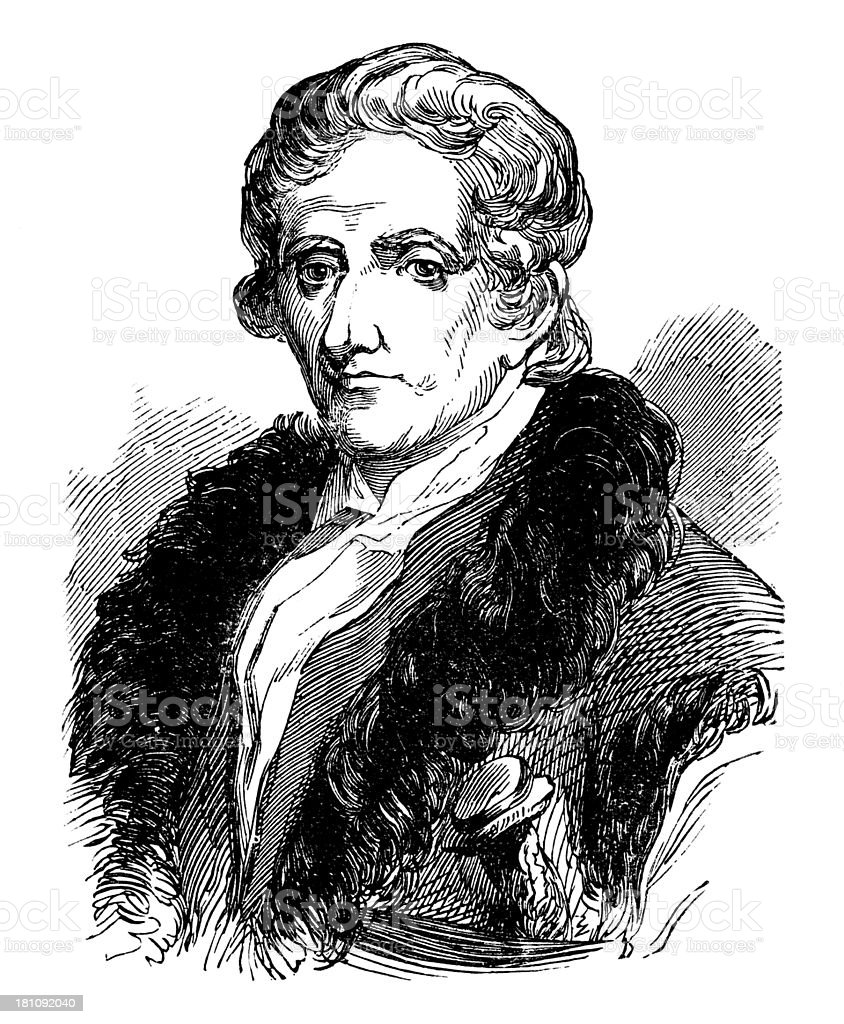 Daniel Boone,American Pioneer and explorer. royalty-free stock photo
