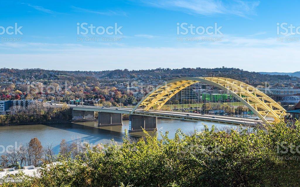 Daniel Carter Beard Bridge in Cincinnati, Ohio stock photo