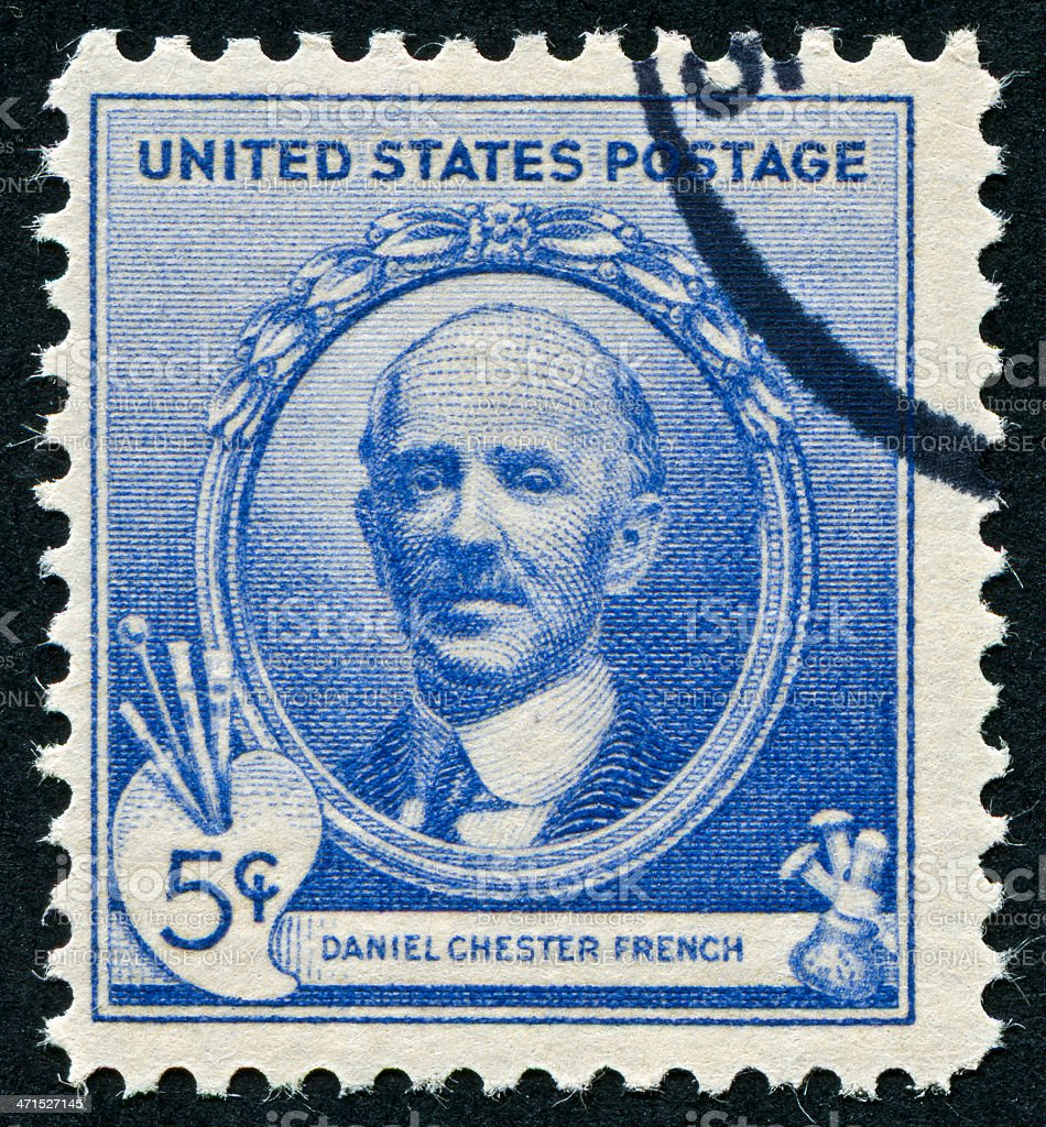 Daniel Chester French Stamp royalty-free stock photo