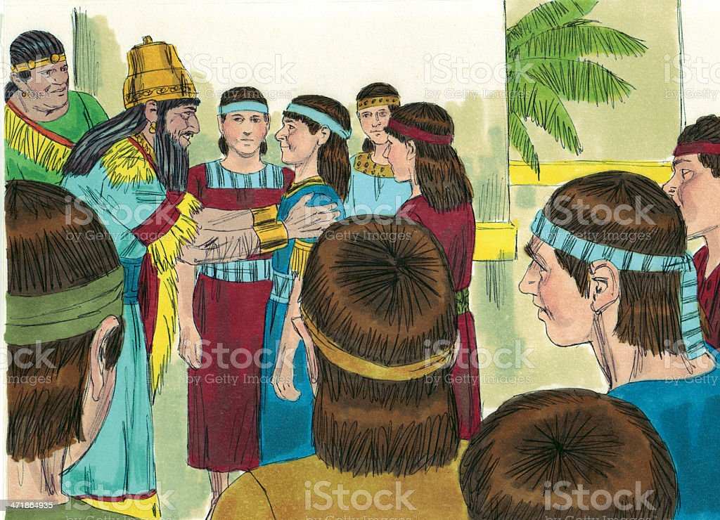 Daniel, Friends Added to Royal Court royalty-free stock photo