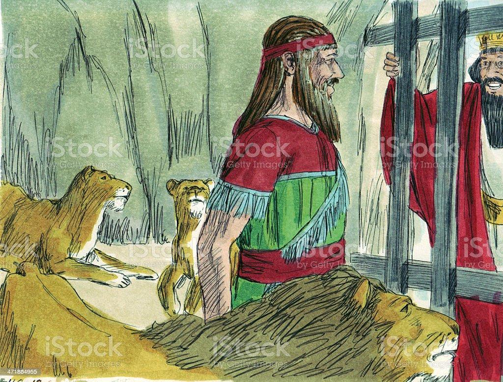 Daniel Speaks to King royalty-free stock photo