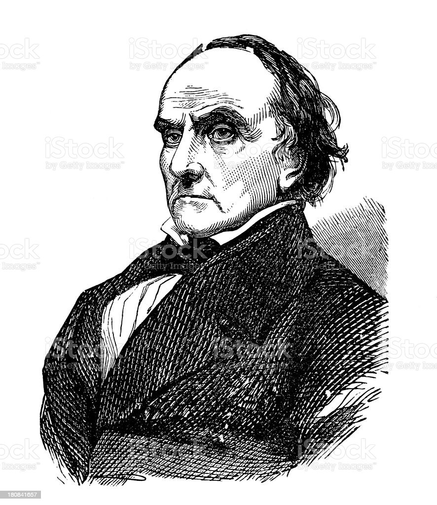 Daniel Webster,american politician stock photo