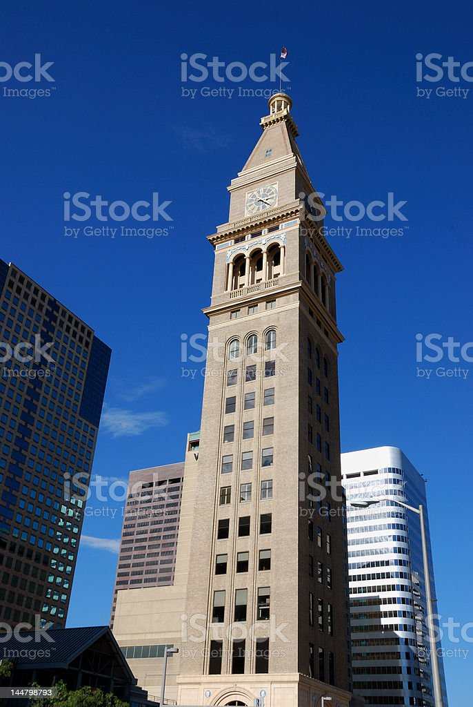 Daniels and Fisher Clock Tower Downtown Denver royalty-free stock photo
