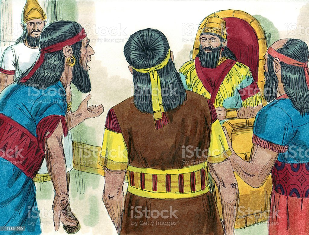 Daniel's Disobedience Reported to King royalty-free stock photo