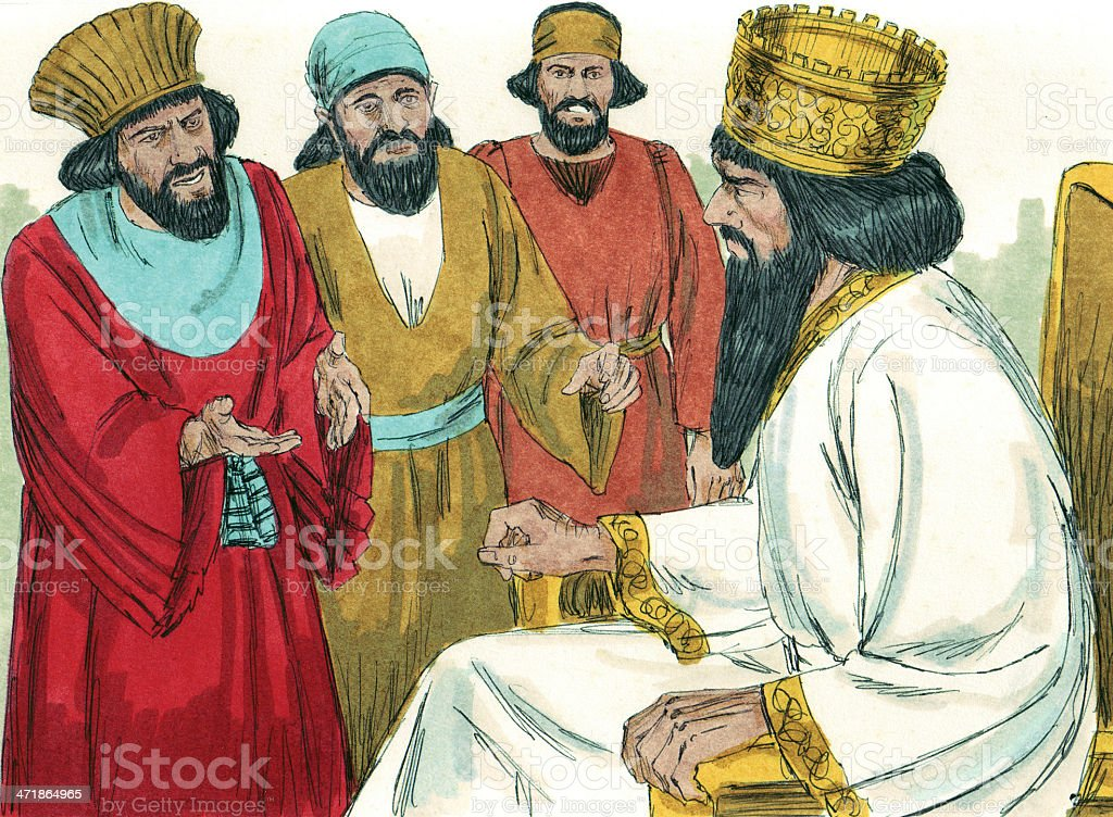 Daniel's Prayers Reported to King royalty-free stock photo