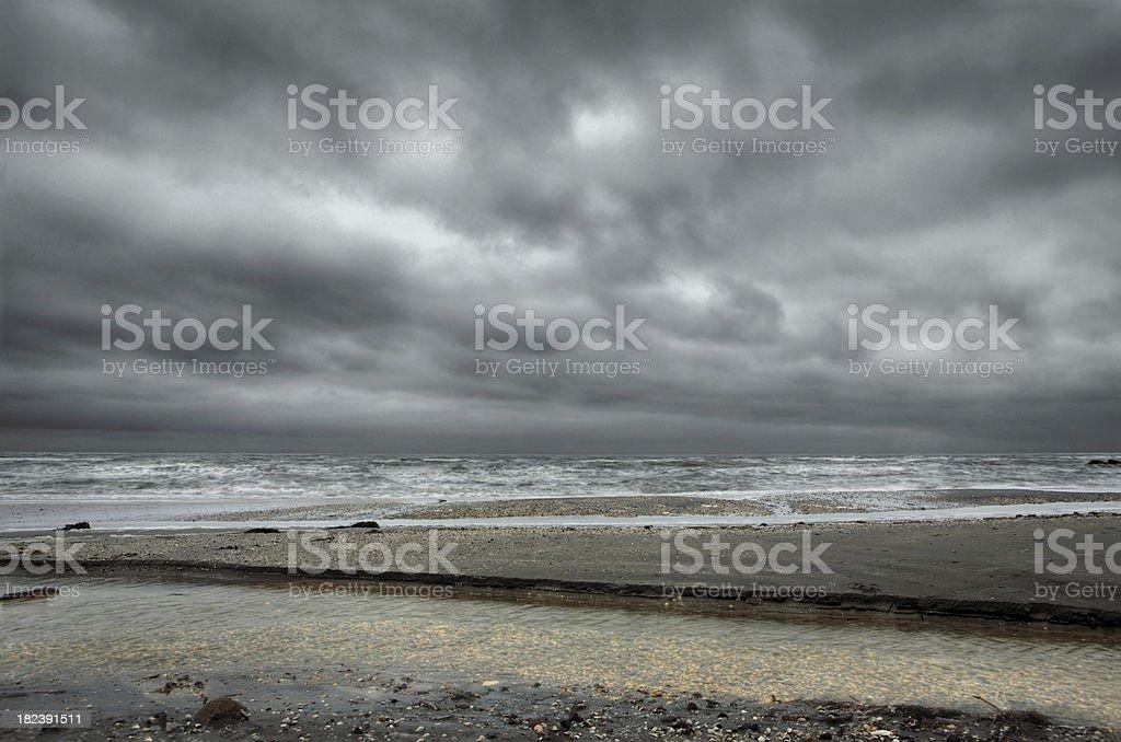 Danish beach - HDR royalty-free stock photo