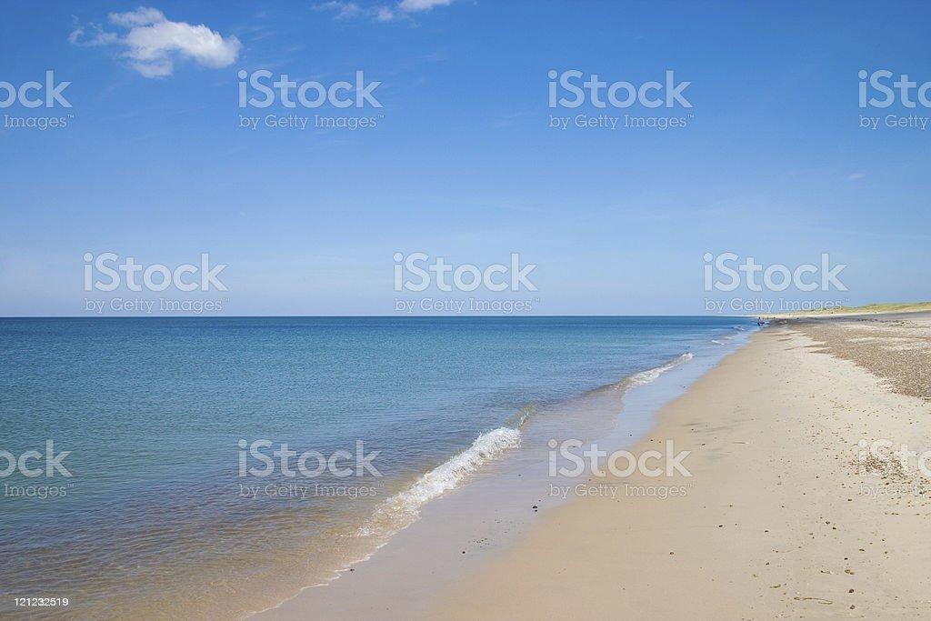 Danish beach royalty-free stock photo
