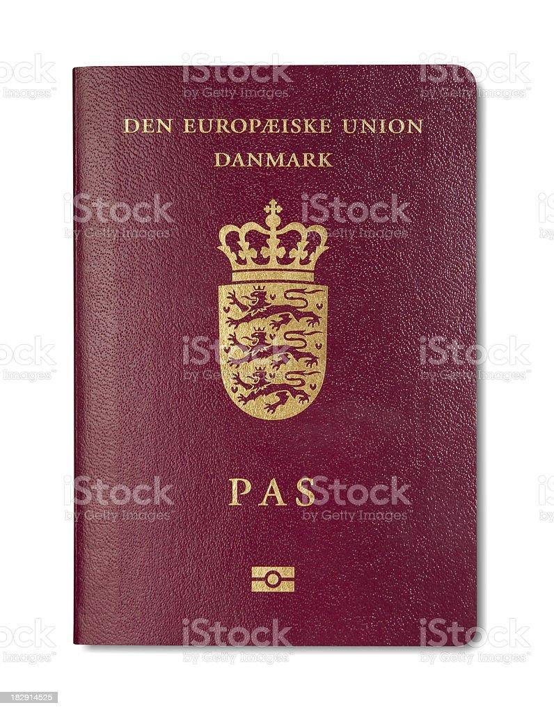 Danish biometric Passport royalty-free stock photo