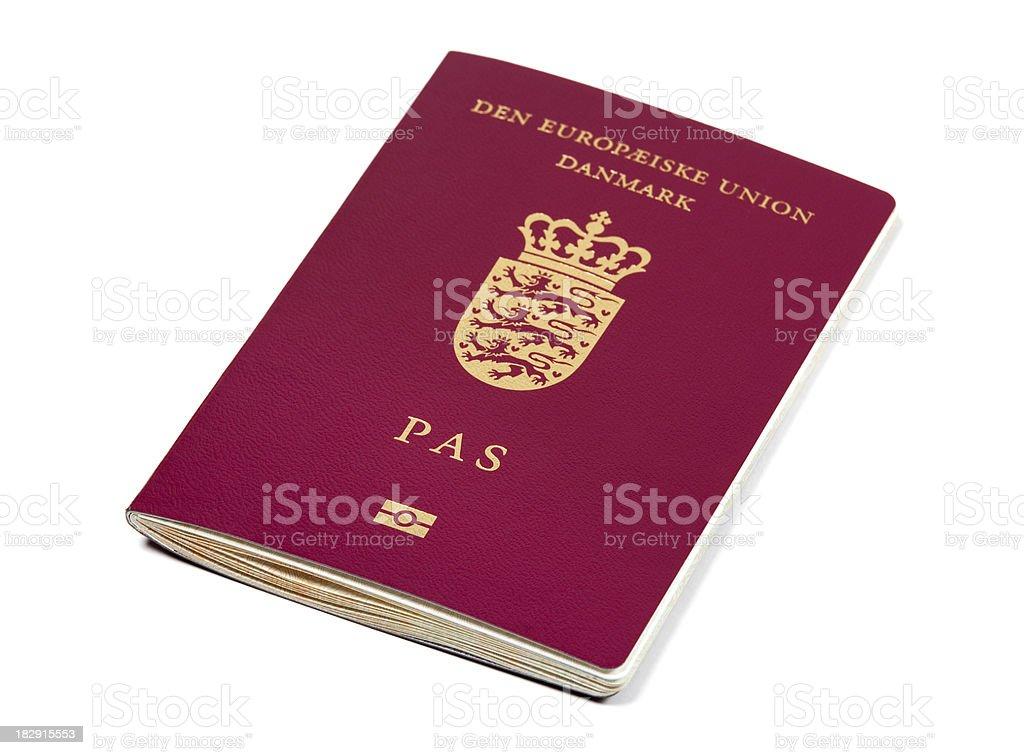 Danish biometric Passport stock photo