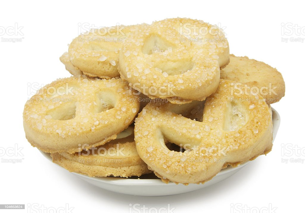 Danish biscuit stock photo