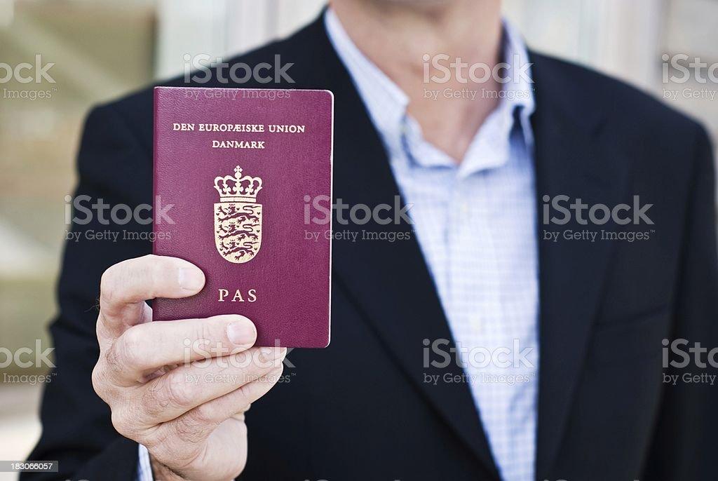 Danish business pass stock photo