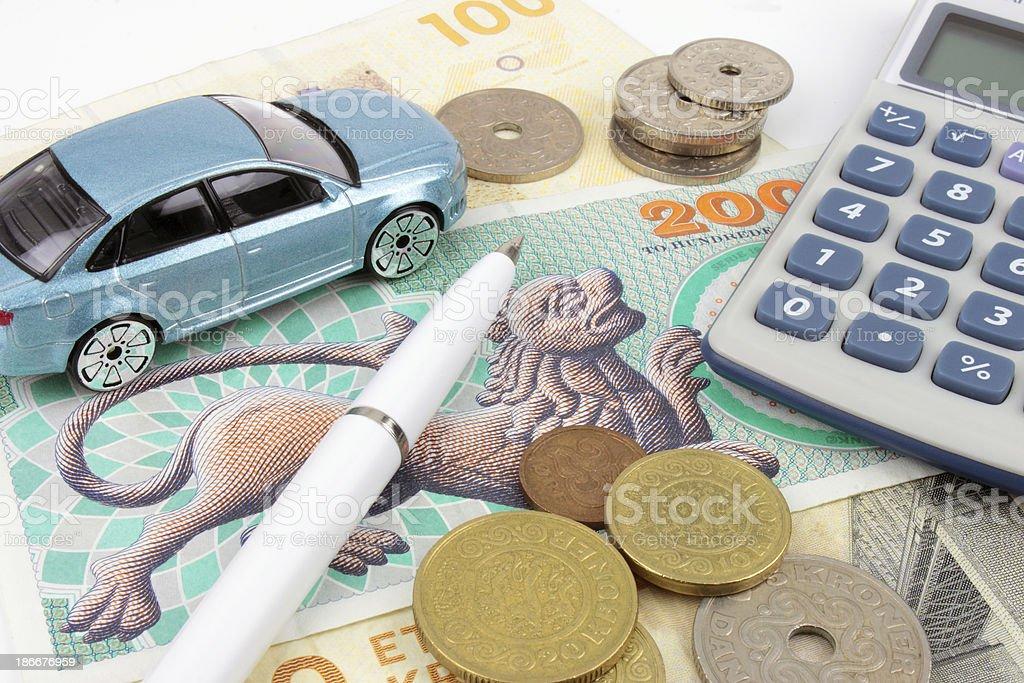 Danish Car Finance royalty-free stock photo