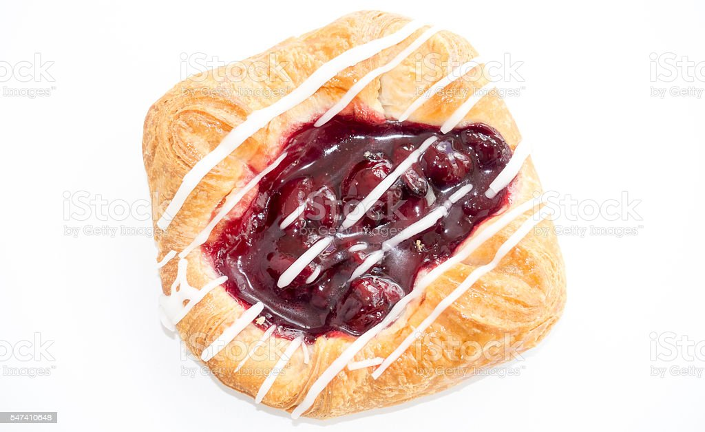 Danish Cherry Pastry stock photo