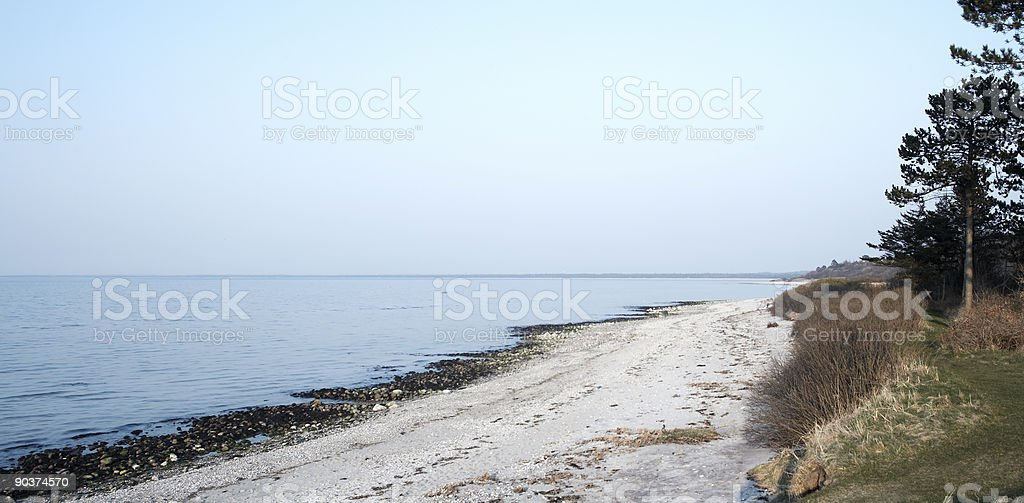 Danish Coast. stock photo