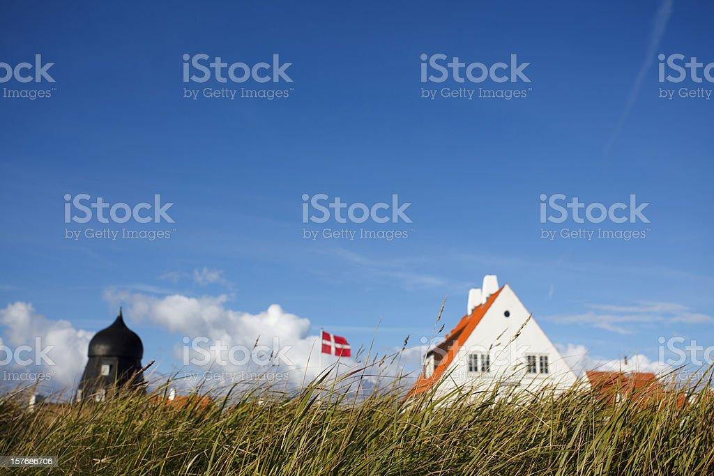 Danish country house stock photo