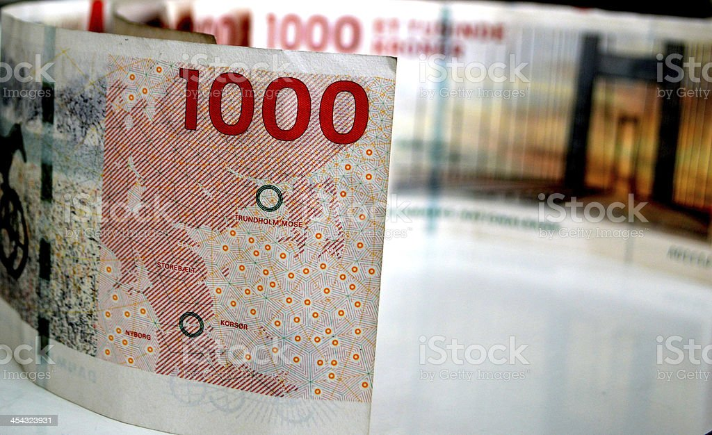 Danish currency stock photo