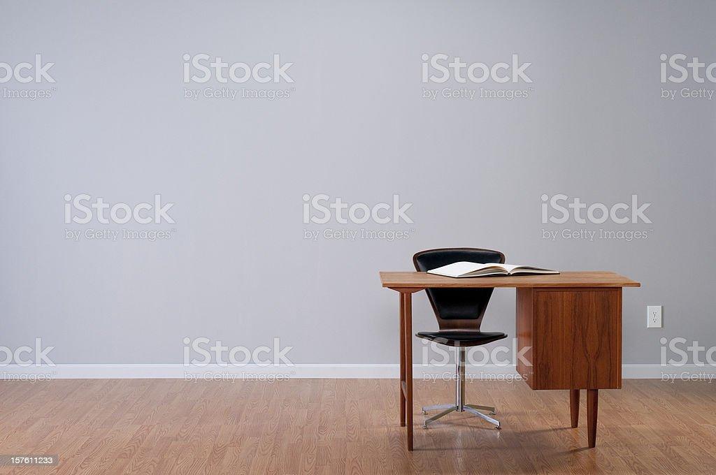 Danish Desk In Empty Room. royalty-free stock photo