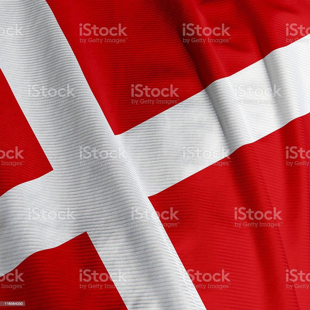 Danish Flag Closeup royalty-free stock photo