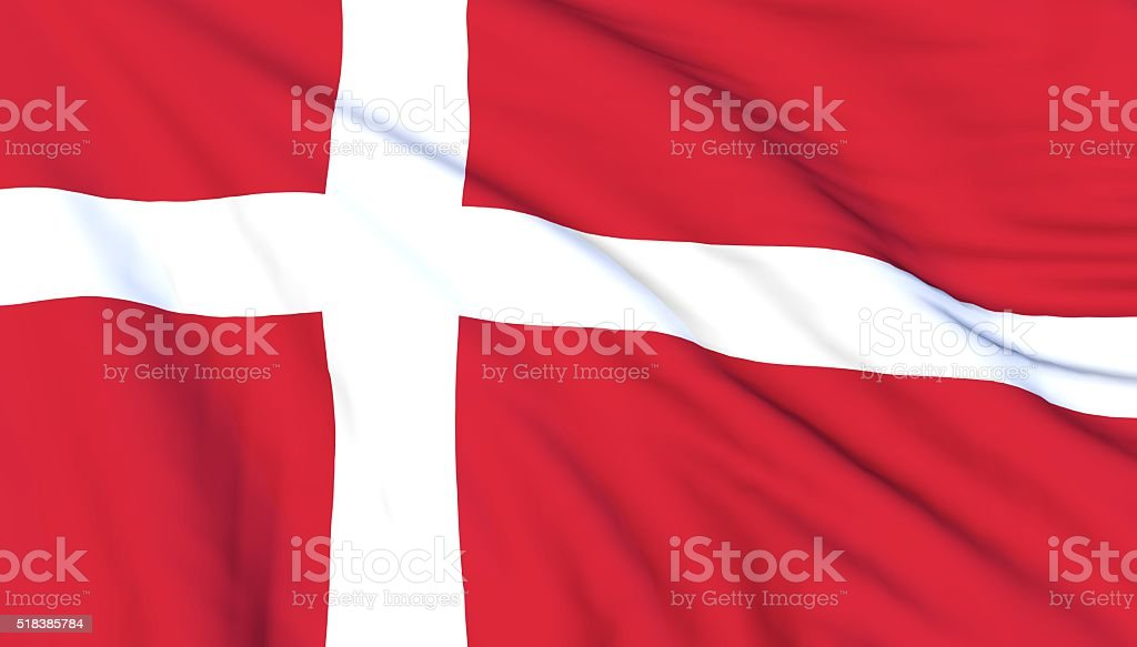 Danish flag stock photo