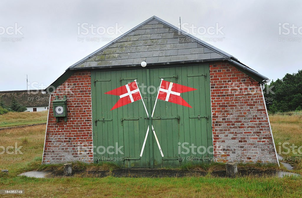 Danish Flags stock photo