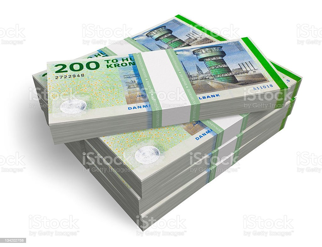 Danish kronas stock photo