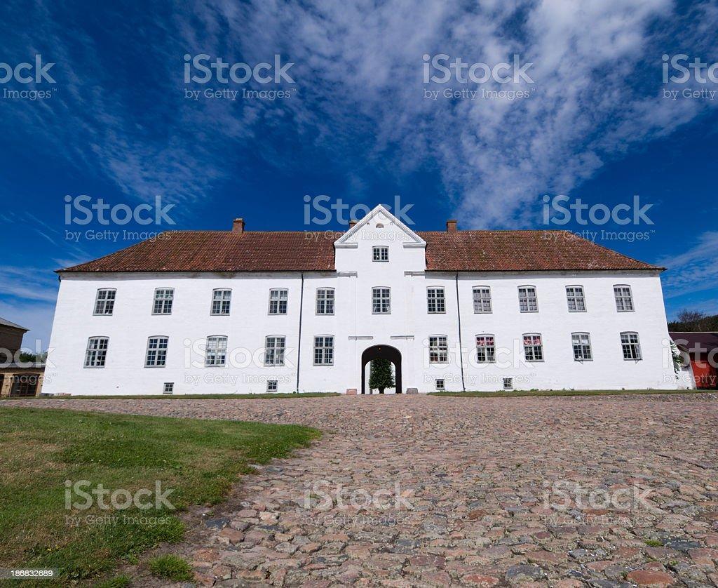 Danish medieval abbey stock photo