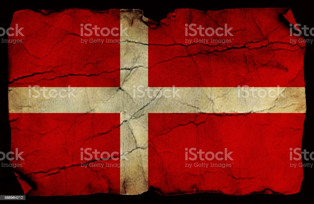 Danish old flag stock photo