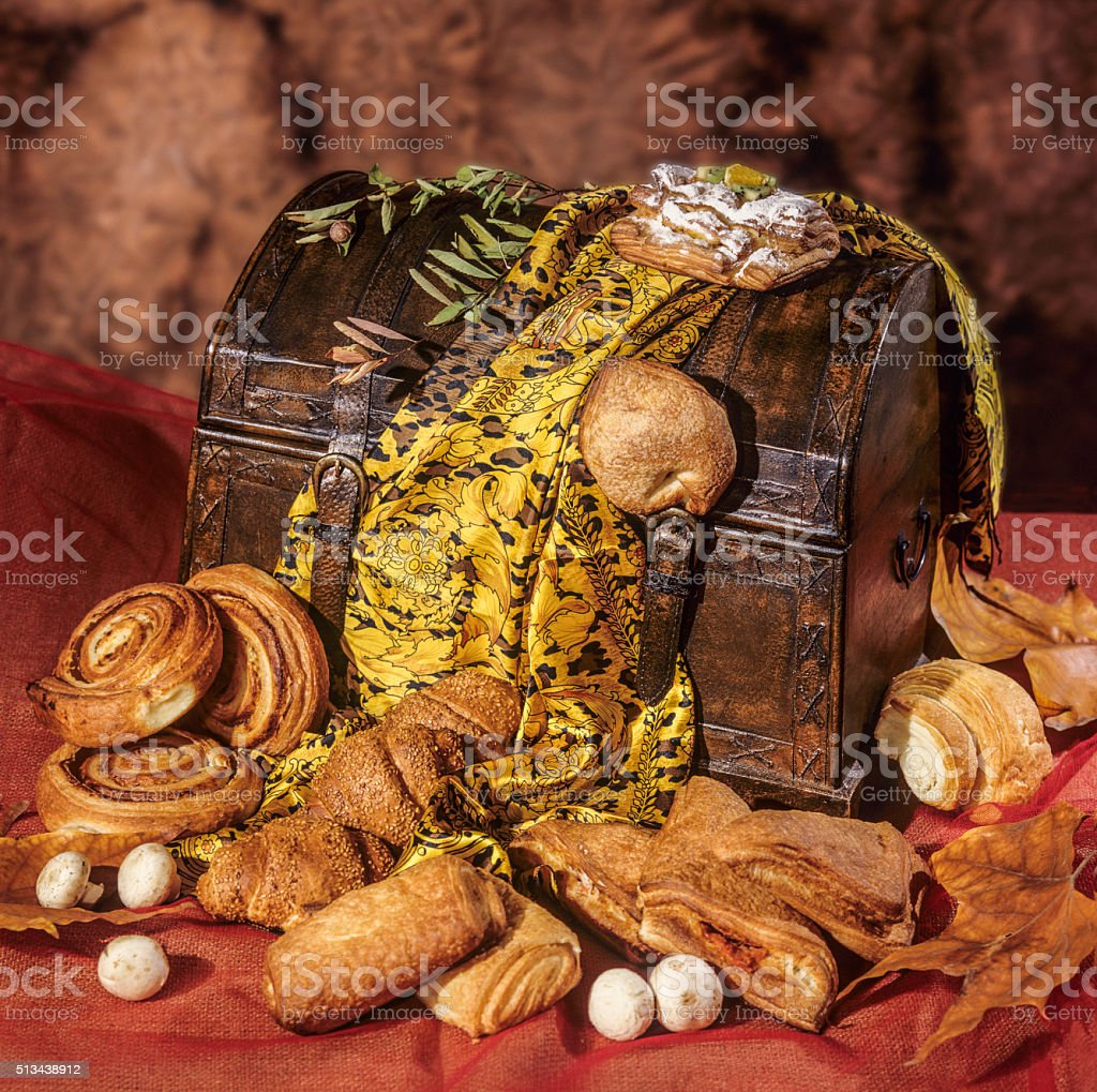 Danish pastries stock photo