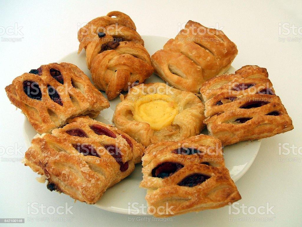 Danish pastries stock photo