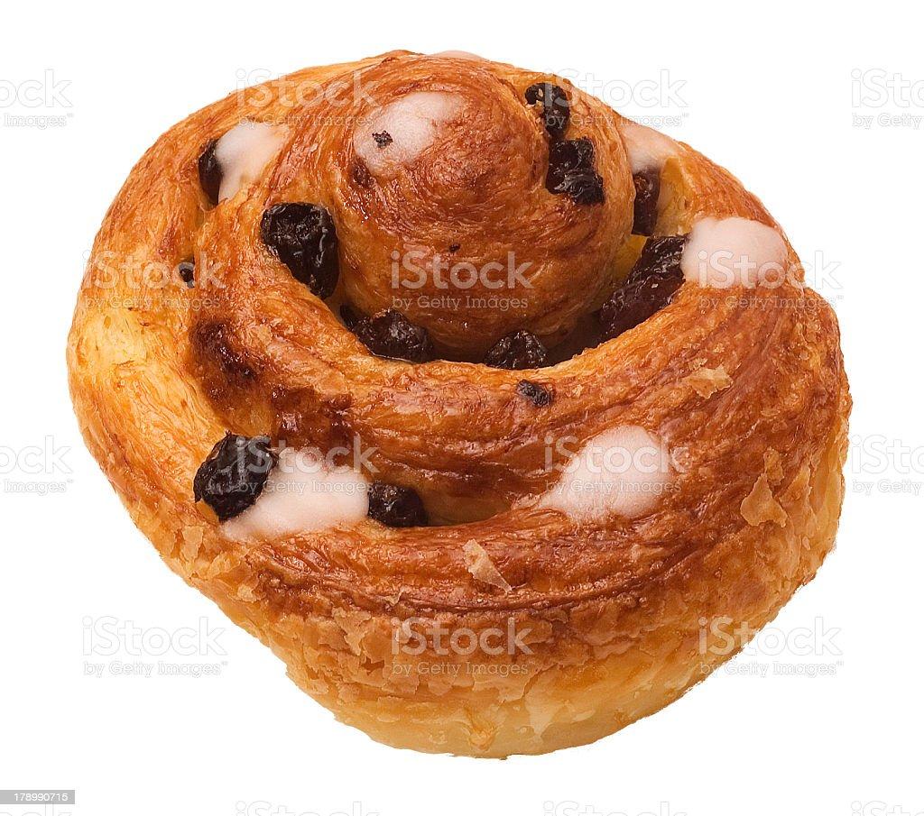 Danish Pastry cutout royalty-free stock photo