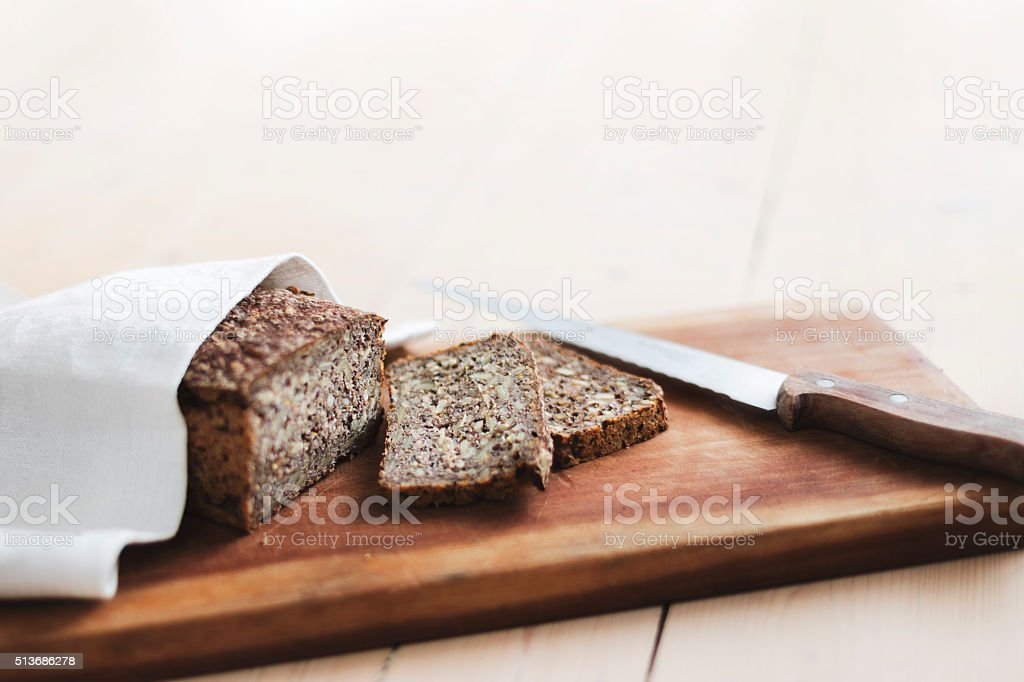 Danish rye bread stock photo