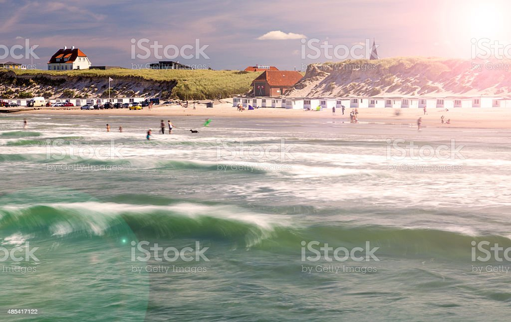 Danish west coast beach stock photo