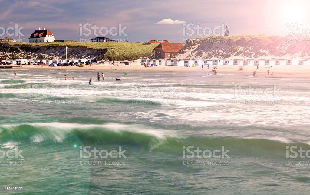 Danish west coast beach stock photo