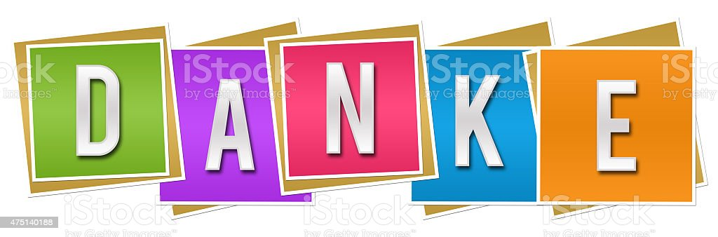 Danke Colorful Blocks stock photo