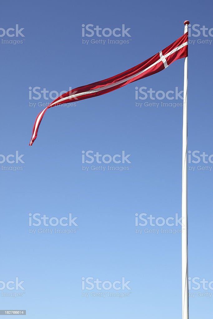 Dannebrog the flag of Denmark as pennant royalty-free stock photo