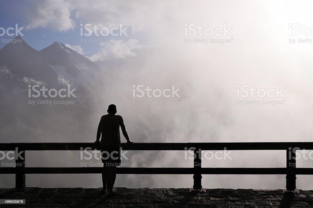 Dans le brouillard stock photo