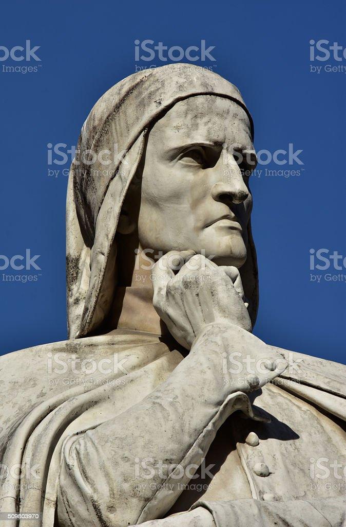 Dante Alighieri, the greatest italian poet stock photo