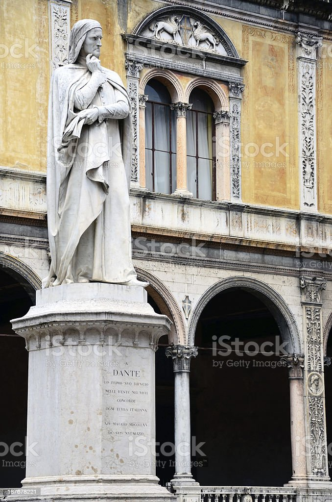 Dante Alighieri, Verona stock photo