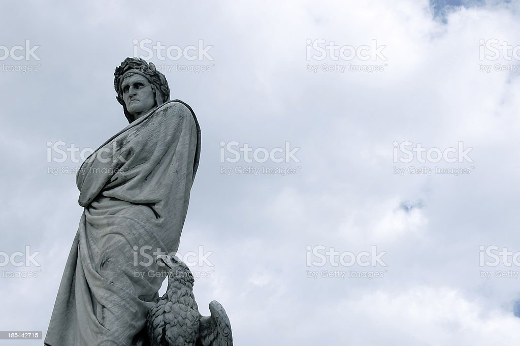 Dante Statue - Florence royalty-free stock photo