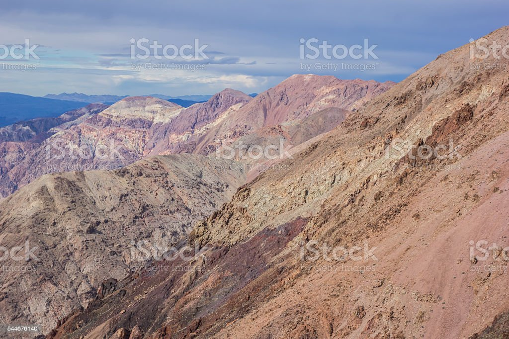 Dante's view in Death Valley National Park stock photo
