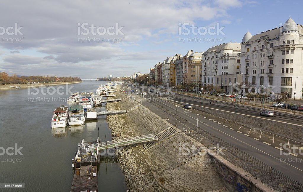 Danube and Budapest view, Hungary royalty-free stock photo