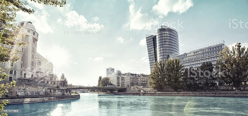 Danube Canal of Vienna stock photo