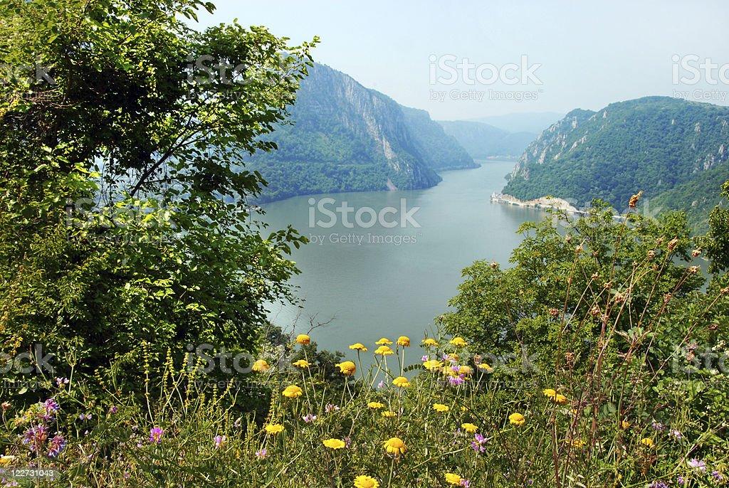 Danube canyon royalty-free stock photo