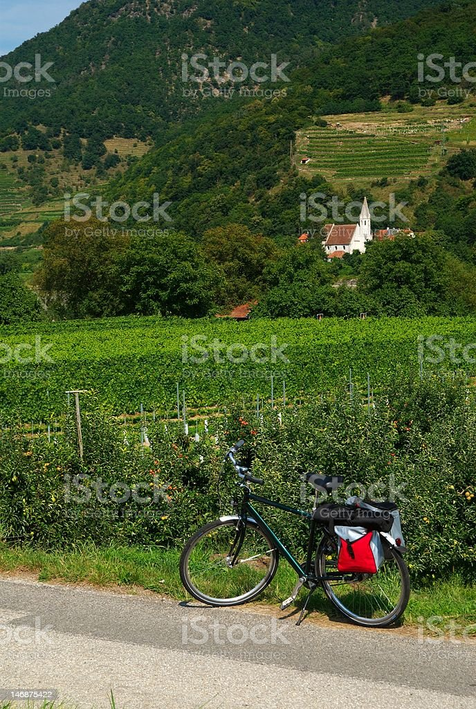 Danube Cycle Trail royalty-free stock photo