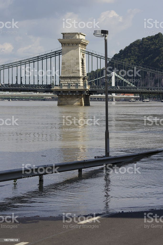 Danube flood royalty-free stock photo