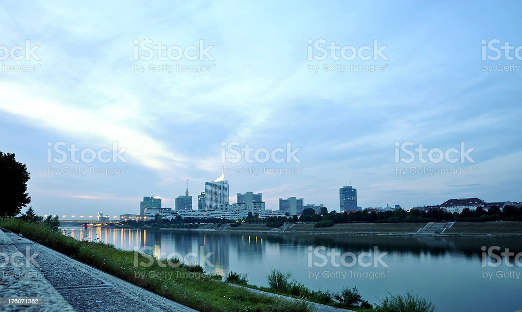 Donauinsel Vienna Danube River royalty-free stock photo