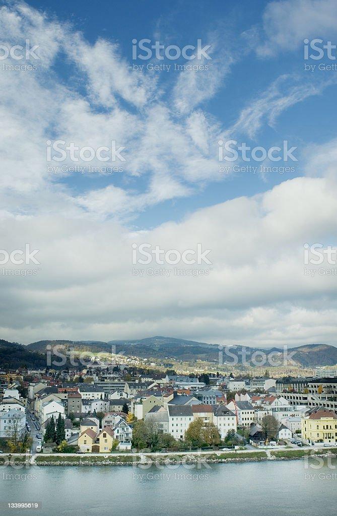Danube Linz Austria stock photo