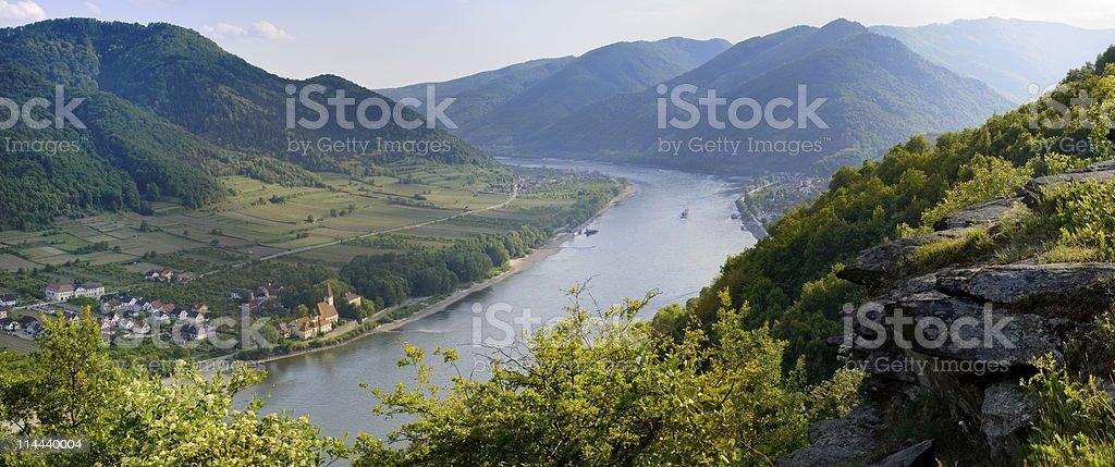 Danube Panorama Spitz in the Wachau stock photo
