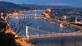 Danube river at dusk