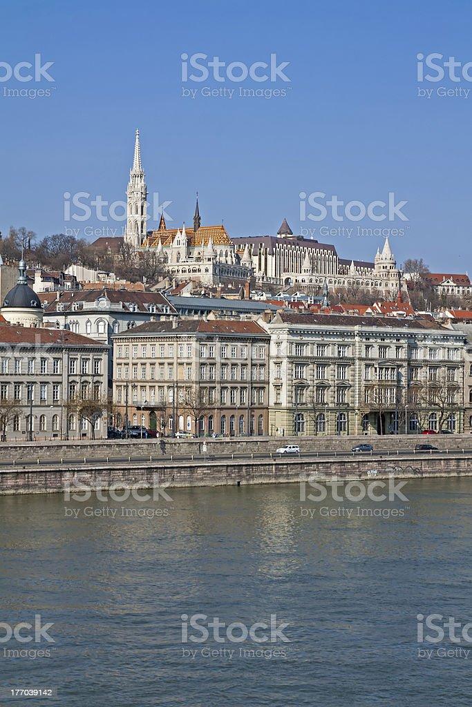 Danube River Bank in Budapest stock photo